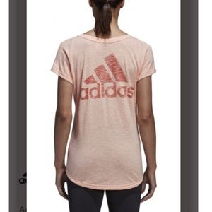 Adidas Winners Tee Burnout Short Sleeve Workout
